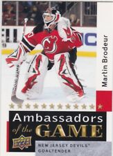 MARTIN BRODEUR 2009-10 UPPER DECK 2 AMBASSADORS OF THE GAME SP #AG55 DEVILS