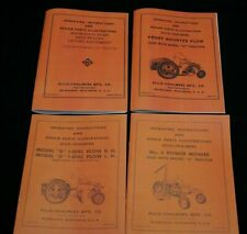 4 Allis Chalmers Model G Plow Sickle Mower & Options Implement Owner Manuals AC