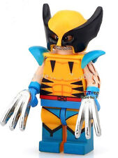 Wolverine Comic version minifigure toy With Lego Sticker X-Men movie Apocalypse