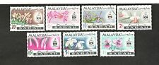 Malaysia SCOTT #17-23 FLOWERS MH stamps