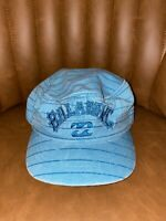 Vintage Billabong Cap 3 Panel Aqua Embroidered Spell Out Aussie Surfwear 90s 2yk