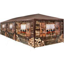 Gazebo 3x9m Party Tent Rustic Wooden Hut Design Festivals Beer Garden Camping