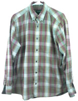 Eddie Bauer Size Med. Men's Relaxed Fit Button Front Shirt Long Sleeve Plaid
