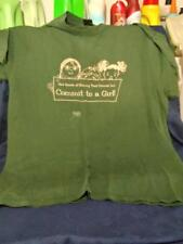 Vintage T SHIRT -girl scouts -SHINING TRAIL COUNCIL- Iowa-green-XL
