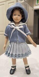 "Heidi Plusczok 10"" Porcelain Head Legs Arms Cloth Torso doll redressed Boneka"