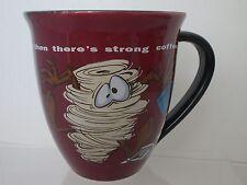"Warner Bros Studio Store WB Looney Tunes Taz Mug ""There's strong Coffee"" 1998"