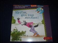 Va-t'en gros loup mechant! + CD by Anne-Marie Chapouton  Pere Castor  French New