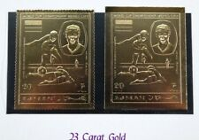 Ajman 1970 fútbol WM méxico Soccer oro franz beckenbauer 568 a y b Folder