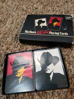 1991 2 Decks Marlboro Wild West Cowboy Playing Cards SEALED NEW