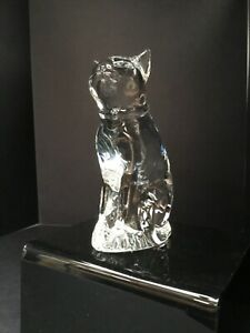 Hand Crafted Sitting Glass Cat Figurine