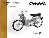 Catalogue pieces detachées MOTOBECANE MOTOCONFORT SP 92 92N N SPECIALE
