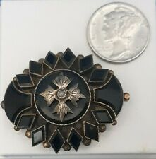 Womans Vintage 10 K Mourning Brooche.FREE 3 DAY PRIORITY SHIPPING.