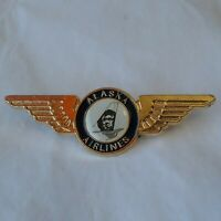 Alaska Airlines Lapel Pin Winged with Eskimo Face