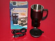 Innovage Stainless Steel Lined Heated Travel Coffee Mug w/ Power Adapter *NEW*
