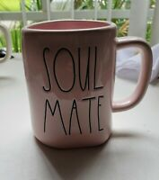 "New RAE DUNN Artisan Collection LL ""SOUL MATE"" Pink Mug By Magenta"
