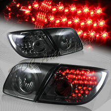 For 2004-2009 Mazda 3 5DR/Hatchback RED LED Smoke Lens Rear Tail Lights 4-Pcs