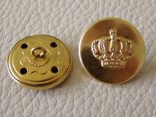 Verzierung Krone Symbol Knöpfe Rund Mantelknopf Metall Knopf 10x DIY Handarbeit
