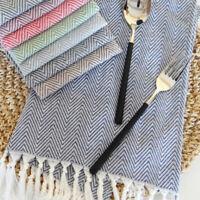 Rectangular Tassel Block Print Cotton Table Cloth Napkins Table Mats Decor N7