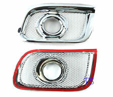 Chrome Spot Lights Fog Lamps Cover Fit Toyota Hiace 4x4 Commuter Van 2005 07 08