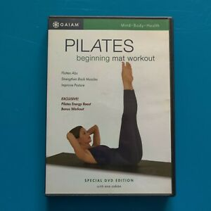 TWO Pilates Workout DVDs Gaiam Beginning Mat and New Method Precision Toning