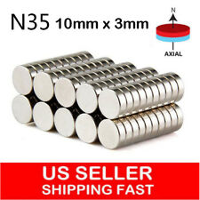 10 50 100 Pcs Super Strong Round Disc 10 x 3mm Magnets Rare Earth Neodymium N35