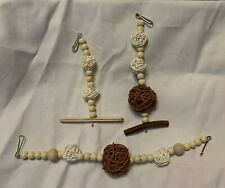 Natural Pet Hanging toy Set, Cage Decorations, Rats, Hamster, Mice