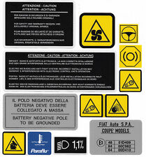 FIAT COUPE 20V / 20VT / LE / Plus Engine Bay Decals / Stickers / Labels