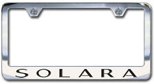 NEW Toyota Solora Chrome License Plate Frame with Engraved Block Lettering