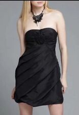 NEW $220 L 6-8 Party Prom Dance Strapless Rose Dress Leola Couture Wedding LBD