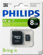 Philips MicroSDHC-Card 8GB, Class 4 mit Adapter FM08MA35B