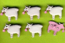 SHELLY THE SHEEP - Animal Lamb Wool Grey Farm Novelty Dress It Up Craft Buttons