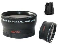 Bower 0.45x Wide Angle Lens for Canon VIXIA HF S200 HF S100 HF S21 HF S20 HF S11