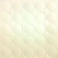 WHITE x25 Self Adhesive Stick Furniture Sticker Screw Hole Cover Caps 14mm