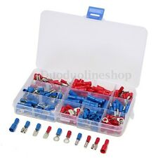 200Pcs Assortment Crimp Terminal Insulated Electrical Wirie Connectors Kit Box