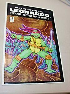 Leonardo, Teenage Mutant Ninja Turtle #1 Mirage Comic Book KEY No. 1 1986 Nice!