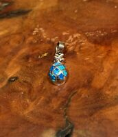 Sterling Silver Synthetic Opal Pineapple Pendant