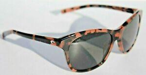 COSTA DEL MAR Sarasota POLARIZED Sunglasses Womens Shiny Dusk/Gray 580G NEW