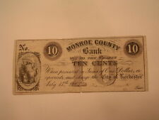 1862 ROCHESTER NY- MONROE COUNTY BANK 10 CENT NOTE