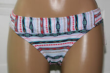 NEW Lucky Brand Striped Montana Hipster Swimwear Bikini Bottom size L Large