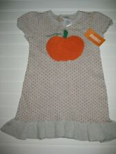 NWT Gymboree Happy Harvest size 3T Gray Dot Pumpkin Sweater Dress