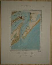 1894 Perron map RIO GRANDE, RIO GRANDE DO SUL STATE, BRAZIL (#99)