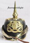 German Pickelhaube Long Spiked Helmet WW1 WWI Black Leather Prussian Helmet