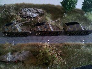 1:87 Herpa Minitanks 2 Artillerie SFL Hummel & 1 Munitionsträger Hummel