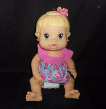 BABY ALIVE 2008 ALL BETTER NOW DRINKS AND WETS GIRL BLONDE POTTY TRAINING DOLL
