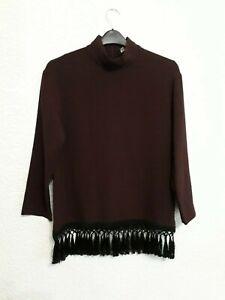 size S dark purple top from Zara