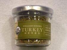 Brand NEW Williams Sonoma Organic Turkey Herbs .55 oz Sealed Jar Exp 8/2019 NEW!