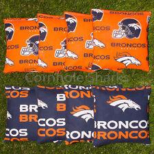 Cornhole Bean Bags Set of 8 ACA Regulation Bags Denver Broncos Free Shipping!!