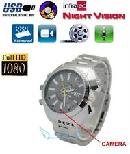 FHD 1080P SPY Watch Hidden Camera Video Recorder AUDIO IR Waterproof 16GB
