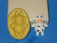 Baby Cow Flexible Push Mold 2D Silicone A166 Cupcake Candy Embelishment Gumpaste