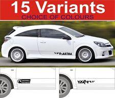 Opel Astra Aufkleber GSI VXR SXI SRI 2 Stück Grafik 15 Designs